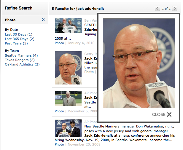 Jack Zduriencik ESPN.com photo search