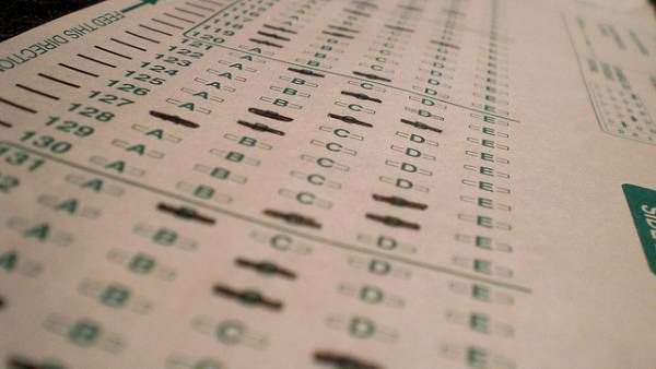 Image of a standardized test