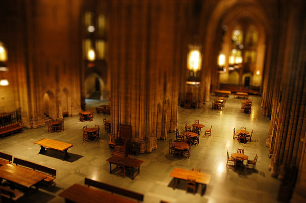 Photo of the reading room in the Cathedral of Learning
