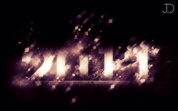 Image of stylized text reading '2011'