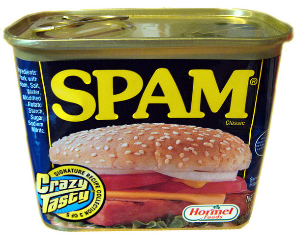 Photo of a can of SPAM