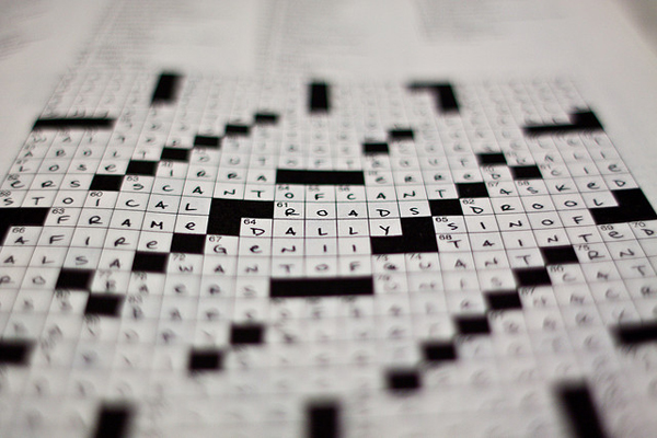 Picture of a crossword puzzle