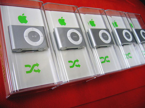 Photo of iPod shuffle package