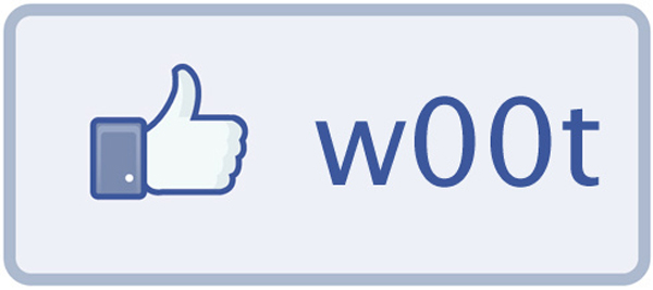 "Image of a Facebook ""w00t"" button"