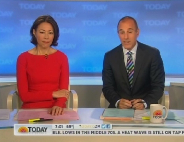 Photo of Ann Curry during her last day on the Today show