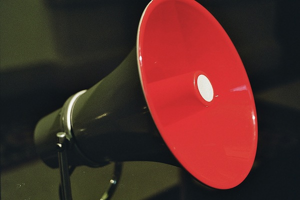 Picture of a red megaphone