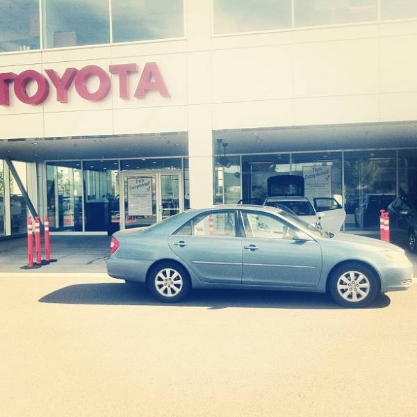 An image of our old Toyota Camry