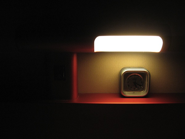 Image of an alarm clock in the dark