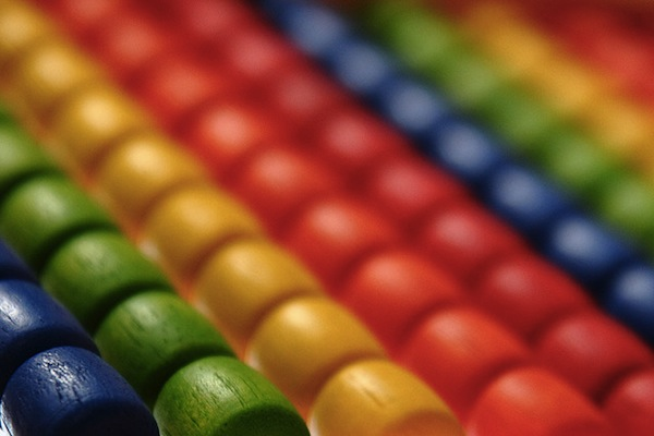 Image of a colorful abacus