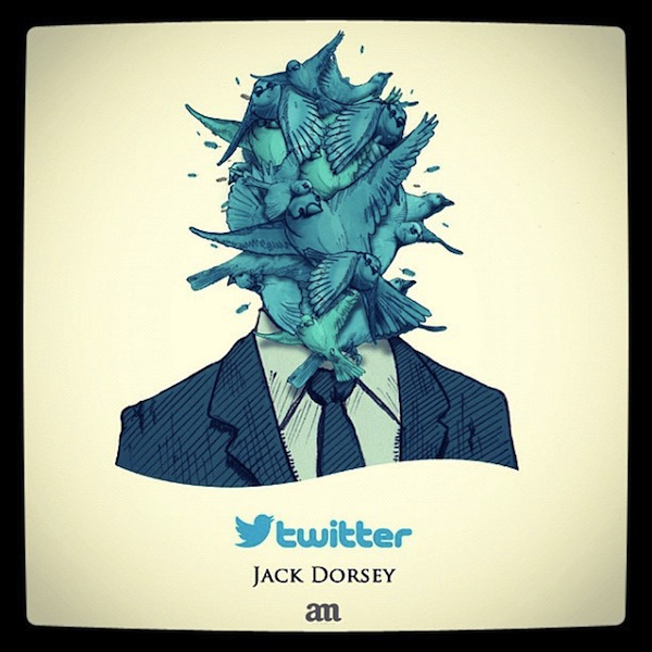 Caricature of Jack Dorsey
