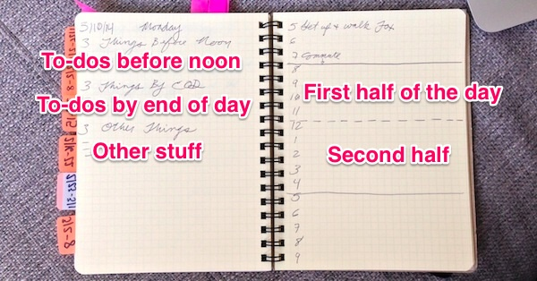 An image of Paul Balcerak's day planner